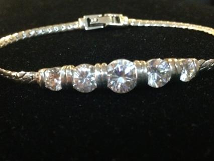 Beautiful vintage silver 925 bracelet - Shines and sparkles!