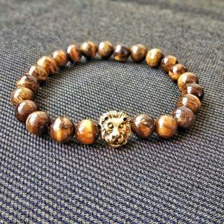 Vintage Beads Buddha Bracelet, Natural Stone Lion head Bracelet