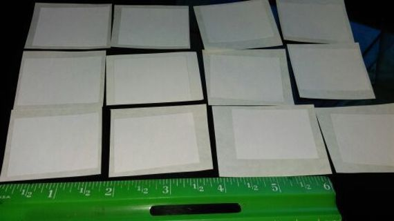 30- SML- BLANK WHITE LABELS/ STICKERS FOR CRAFTING