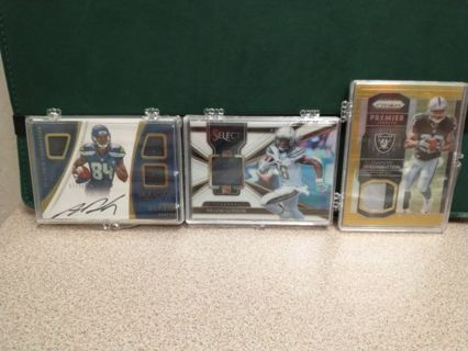 NFL FOOTBALL PROGRESSIVE AUCTION RPA'S HALL OF FAMERS AUTO'S ROOKIES GREAT CARDS