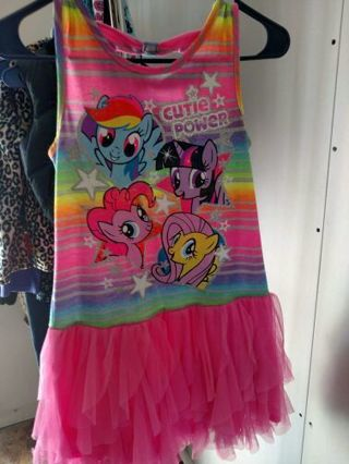Little pony dress girls size 10/12