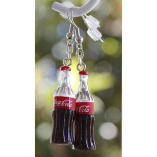Coca Cola hilarious earrings New Funny gag gift free ship