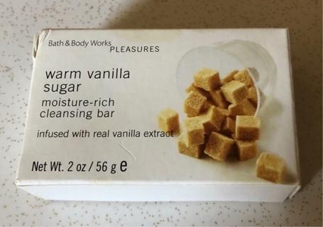 Bath & Body Works Warm Vanilla Sugar Moisture-Rich Cleansing Bar, 2 oz