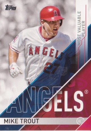 '17 Topps #MVP-1 Mike Trout + 4 Random Angels Cards