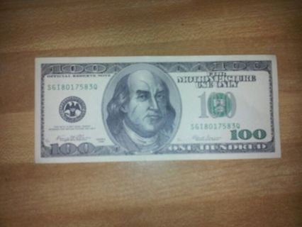 Free: MOVIE PROP MONEY FROM 2 GUNS (prop $100 bill) - Other