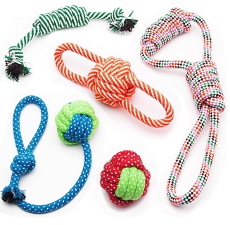 1 NEW LOT Dog Chew Toys for Puppies, Pet Rope Toys, Teething Toys for Small Doggie. (Pack of 5)