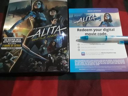 ALITA BATTLE ANGEL DIGITAL COPY FROM BLU-RAY AND DVD COMBO...ANIME..SENT VIA DIGITAL DELIVERY...