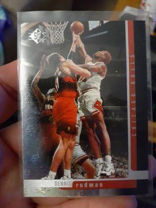 You are bidding on a 1997 Upper Deck SP Dennis Rodman.