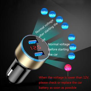 3.1A Dual USB Car Charger 2 Port Display 12-24V Cigarette Socket Lighter UK