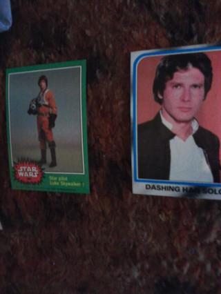 2 Star Wars Cards
