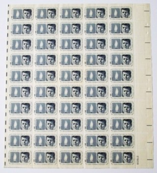 1964 Sheet Of 50 5c John F Kennedy Stamps