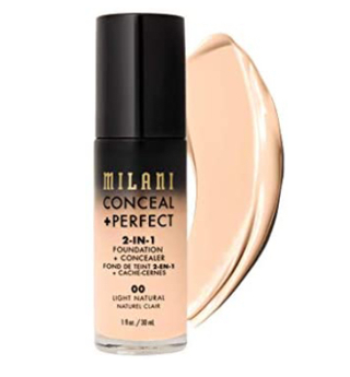 Milani Conceal + Perfect 2-in-1 Foundation + Concealer - Light Natural (1 Fl. Oz.)