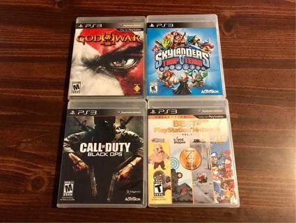 4 PS3 Playstation 3 Games
