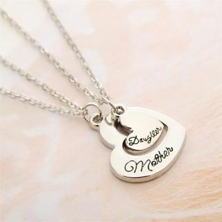 Mother & Daughter Love Christmas Gift Pendant Necklace TN9805