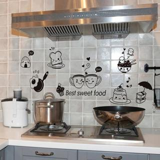Kitchen Wall Stickers Coffee Sweet Food DIY Wall Art Decal Decoration Oven Dining Hall Wallpapers