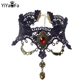 Vintage Lace Choker Necklace for Women Accessories Gothic Jewelry False Collar Statement Necklace
