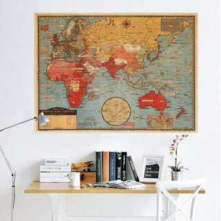 World Map Wall Poster Removable Art Mural Vinyl Quote Home Office Decor