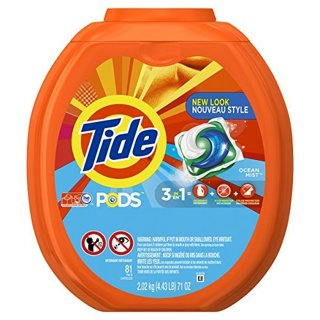 NEW Tide PODS Ocean Mist HE Turbo Laundry Detergent Pacs (81) Count FREE SHIPPING