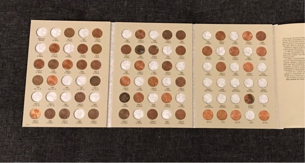 49 Lincoln Cent Penny Pennies Coin Collector Coins Book Folder Lot #81