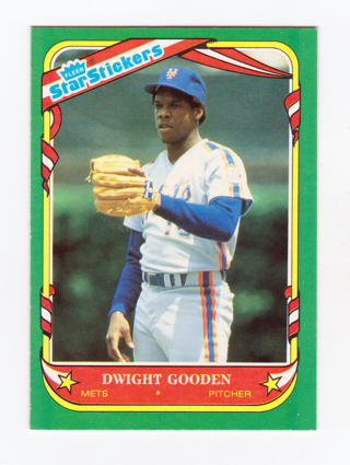 Free 1987 Fleer Star Sticker Baseball Card Dwight Gooden