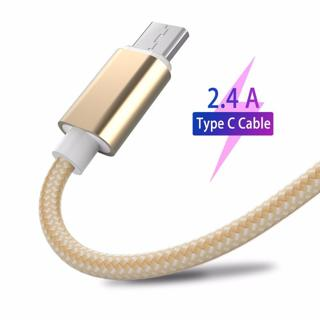 USB Type C Cable 2.4A Fast Charging Smartphone Android Data Sync Transfer Charger Nylon Cord for S