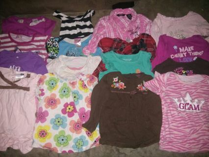 12 month tops for girls