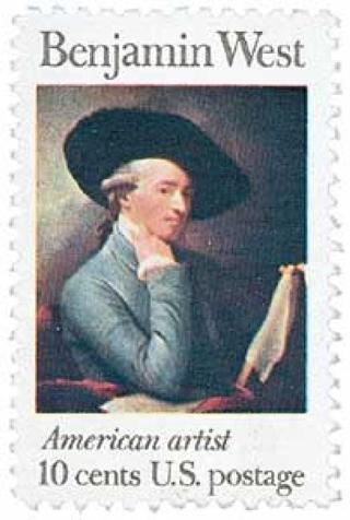 Mint US stamp 'Benjamin West'