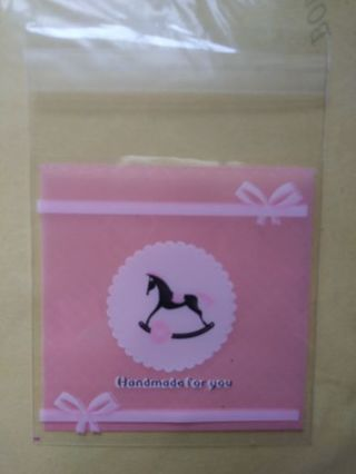 Horse 5 pc 7×3 self adhesive gift /treat bags! No refunds! No lower lowest gins always bonus!