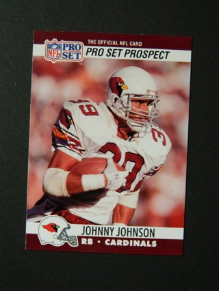 1990 PRO SET Prospect #771 - JOHNNY JOHNSON (39) ROOKIE Card RC Phoenix Cardinals RB -FREE Shipping!