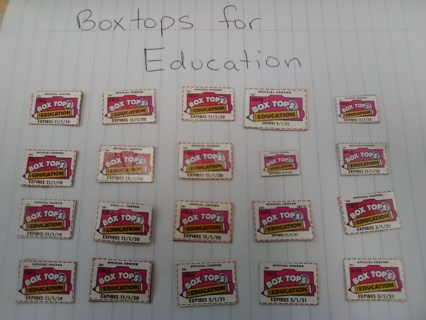 20 Boxtops for Education