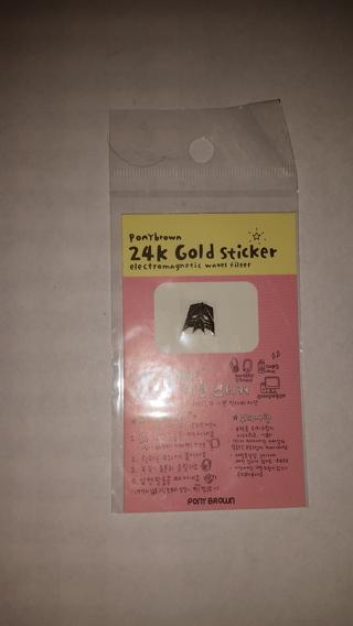 24K Gold Sticker (Filters Electromagnetic Waves)