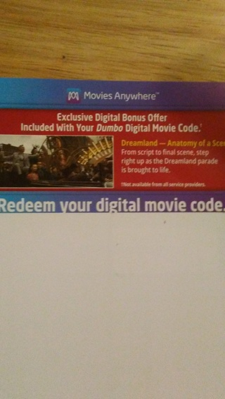 Dumbo digital code