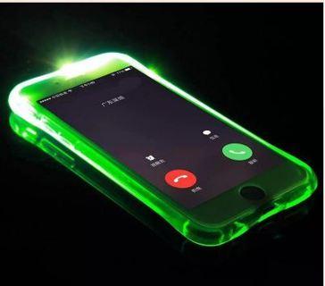 Phone Back Case Fundas For iPhone 5 5S SE 6 6S 7 Plus Cover Anti-Knock Soft TPU LED Flash Light Up
