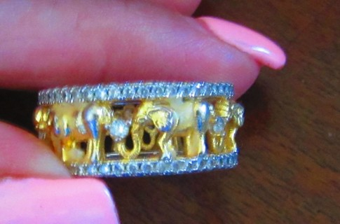 Gorgeous;CZ/GP Elephant ring