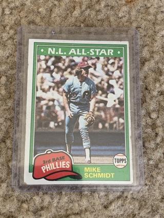 Mike Schmidt 1981 Topps #540 Phillies