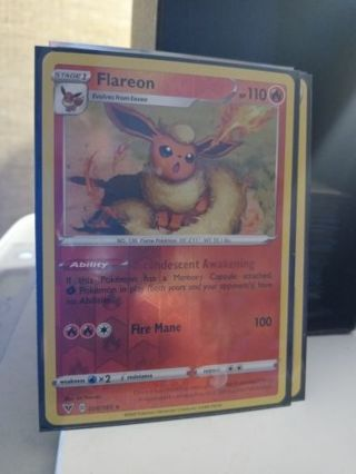 POKEMON REVERSE HOLO RARE CARD: FLAREON SWSH04 VIVID VOLTAGE