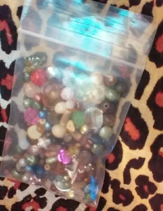 3x4 bag assorted beads