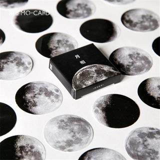 45Pcs/box Creative Moon phase Stickers Flakes Vintage Romantic For Diary Decoration Diy Scrapbooki