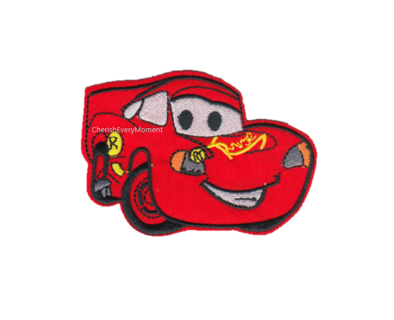Ka-Chow! Lightning McQueen Embroidered Iron-on Patch