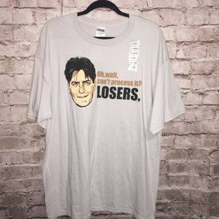 Charlie Scheen Oh, wait, can't process it? LOSERS. New XL T shirt