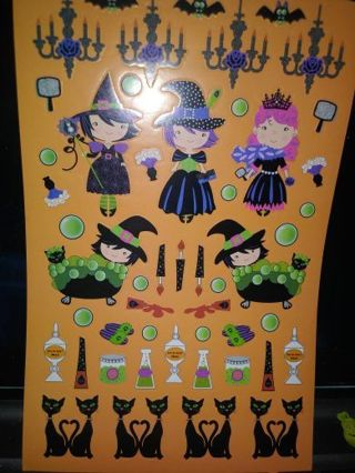 Halloween one new full sticker sheet! Lowest gins around Free shipping! Selling out!