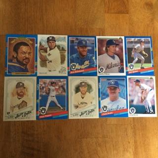 (13) Milwaukee Brewers Baseball Cards Lot