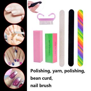 6pcs/Set Nail Files Brush Durable Buffing Grit Sand Fing Nail Art Tool Accessories Sanding File UV
