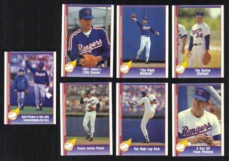 Nolan Ryan 7 different 1991 Pacific Cards - Texas Rangers