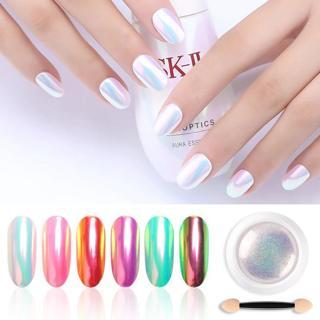 PinPai Chrome Pearl Shell Powder Nail Art Glitter Pigment Pearl Powder Long Lasting Manicure Nail