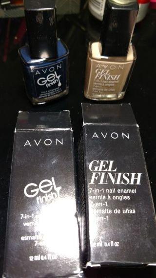 2 New Avon Gel Nail Polish