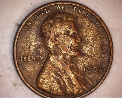 1936 woody and lamination error lincoln wheat penny