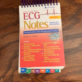 ECG Notes for nursing book! USED!