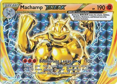 POKEMON TCG - Machamp Break (60/108) - XY Evolutions - Holo Pokemon Cards Singles FREE SLEEVE