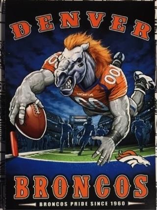 """DENVER BRONCOS NFL - 4 x 3"""" MAGNET"""